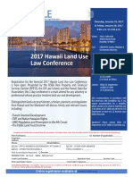 2017 Hawaii Land Use Law Conference brochure and registration form