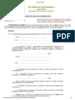 Decreto Nº 8244 Prestação de Contas 1 Ano