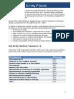 ODE ESSA Online Survey Summary
