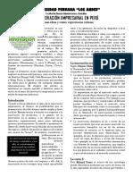 La Innovación Empresarial en Perú (1)