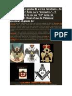 Significado Grado 33 Masoneria