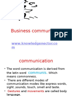 Business Communication and HR Communication  Notes for MBA & Btech