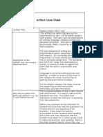 artifact analysis ms 1 cover sheet