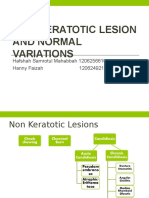 Non Keratotic Lesion and Normal Variations (1)