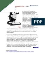 Novedades y Avances en Microscop A