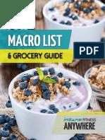 Macro & Grocery Guide