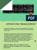 Operation Manaement
