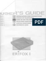 Erifox i & ii Installation User