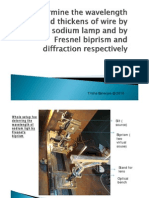 Fresnel & Diffraction