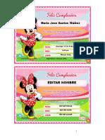 MamaFlor.com - Tarjeta de Minnie Mouse