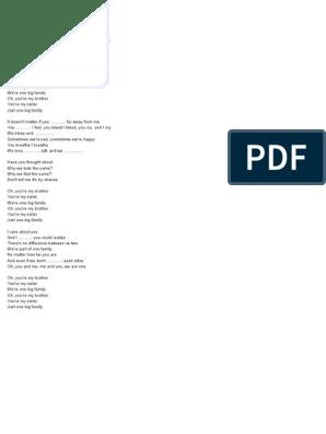 Maher Zain Song on big family docx | Paragraph | Sentence (Linguistics)