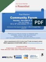 Post-Election Community Forum 12-8-16
