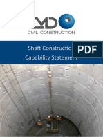 CMD Civil Shaft Construction Capability Statement 2015