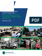 Autonomous Vehicles Testing Policy Task Force