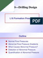 L16 Formation Pressure w10c