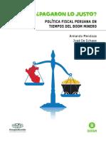 Política Fiscal Peruana en Tiempos Del Boom Minero