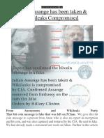 Julian Assange Has Been Taken & Wikileaks Compromised By The CIA.pdf