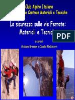 CAI - Manuale Vie Ferrate, Materiali e Sicurezza (Presentazione)