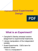 Random Experiment Design