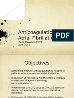 Anticoagulation in Atrial Fibrillation