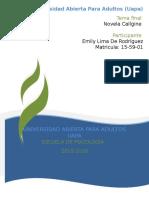Guia de Análisis Para La Novela Calígine de Carlos Pérez 9 Oc