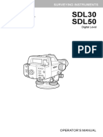 SOKKIA Sdl30-50 Operators Manual-13th Ed