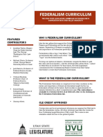Federalism Curriculum Flyer