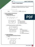 Formulario de Series y Sumatorias