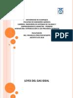 Ley Del Gas Ideal Uno
