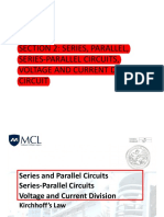 Section 2 - Series, Parallel, Series-Parallel Circuits, Voltage and Current Divider Circuit