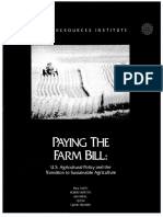 PAYING THE FARM BILL