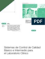 Sistemas de Control de Calidad Basico e Intermedio Para El Laboratorio Clinico