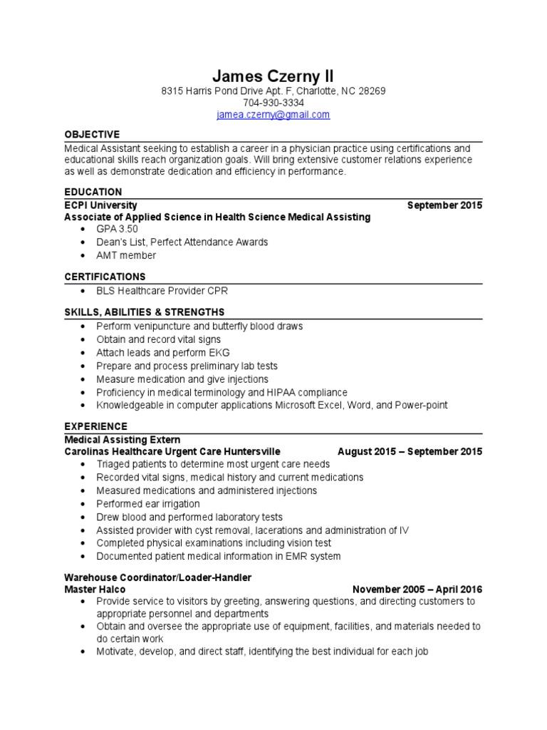 Ecpi resume medical and halco wellness health sciences 1betcityfo Images