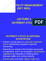 SST3603 Lecture 2 Nutrient Cycles
