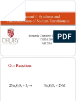238L F2016 E004 - Synthesis and Characterization of Sodium Tetrathionate (1)