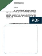 Ficha de Objetivos