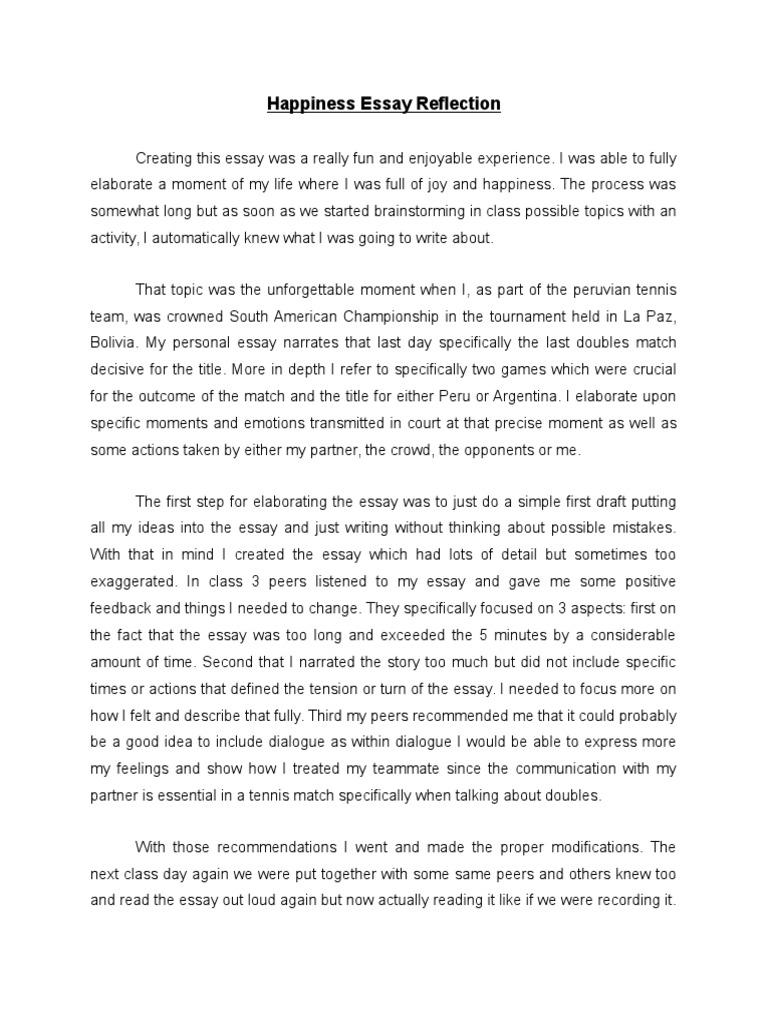 happiness narrative essay reflection essays narrative
