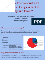 How Does Recreational and Prescription Drugs Affect the Body and Brain