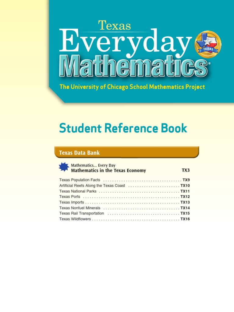 Texas Everyday Mathematics Grade 5 _ Student Reference Book ...