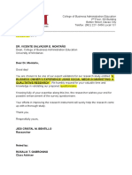 Validation Letter Dean Montano
