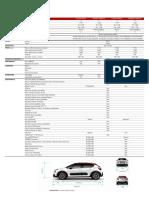 Ficha Técnica Nuevo Citroën C3 2017