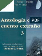 [Antologia Del Cuento Extrano 03] AA. VV. - Antologia Del Cuento Extrano 3 [27940] (r1.1)