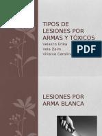 Lesiones Por Armas Toxicologia
