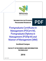 Pgcm Pgdm Mm Handbook 2016 For Whitireia Communinty Polytechnic