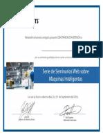 Smart Machines Latam 2016 Certificate