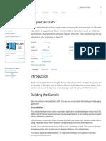Windows Simple Calculator Sample in C# for Visual Studio 2008