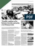 Nadia aplaca la histeria desatada en Huaycán