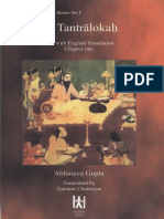 Abhinavagupta Chatterjee Gautam Tr Sri Tantraloka Chapter One 125p