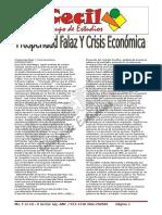 Prosperidad Falaz y Crisis Económica