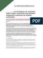Cimentación de Bloques de Vivienda Sobre Suelos Cohesivos Muy Blandos Empleando Inclusiones ---- LEEERRRRR